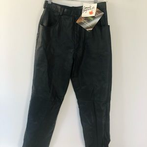 High Rise NWT Vtg Black Leather Pants